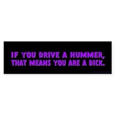 Purple Hummer Bumper Sticker