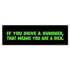 Green Hummer Bumper Sticker