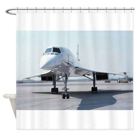 Supersonic Concorde Shower Curtain