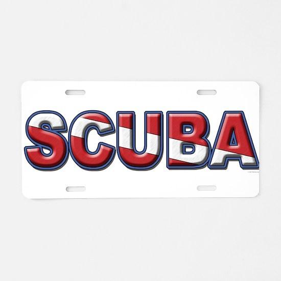 SCUBA Aluminum License Plate