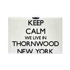 Keep calm we live in Thornwood New York Magnets