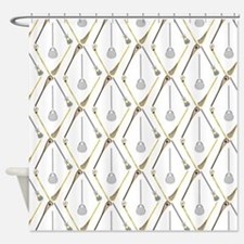 Five Lacrosse Sticks Shower Curtain