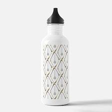 Five Lacrosse Sticks Sports Water Bottle