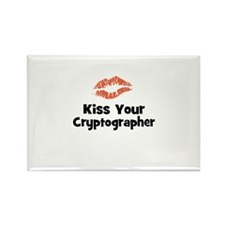 Kiss Your Cryptographer Rectangle Magnet