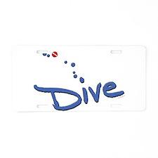 Dive Aluminum License Plate