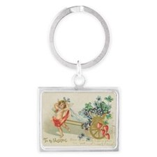 Cupid and Violets Keychains