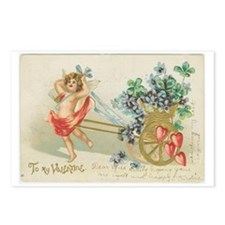 Cupid and Violets Postcards (Package of 8)