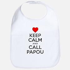 Keep Calm Call Papou Bib