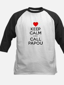 Keep Calm Call Papou Baseball Jersey