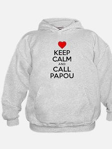 Keep Calm Call Papou Hoodie