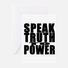 Speak Truth to Power Greeting Cards (Pk of 10)