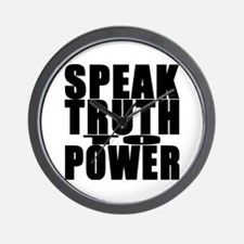 Speak Truth to Power Wall Clock