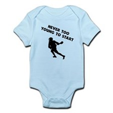 Never Too Young To Start Lacrosse Body Suit