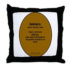Books: Open with Care Throw Pillow