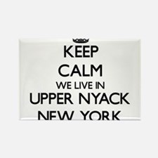 Keep calm we live in Upper Nyack New York Magnets