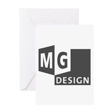 MG Design Logo in Gray Greeting Cards