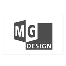 MG Design Logo in Gray Postcards (Package of 8)