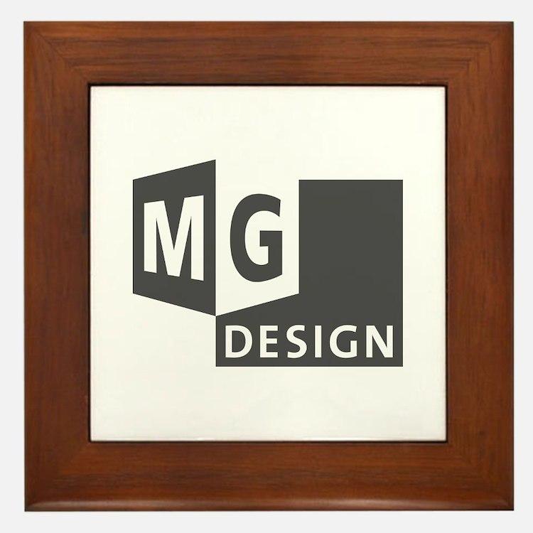 MG Design Logo in Gray Framed Tile