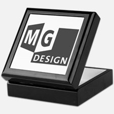 MG Design Logo in Gray Keepsake Box