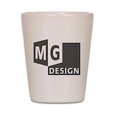 MG Design Logo in Gray Shot Glass