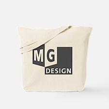 MG Design Logo in Gray Tote Bag