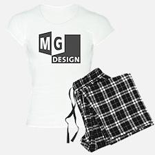 MG Design Logo in Gray Pajamas