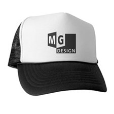 MG Design Logo in Gray Trucker Hat