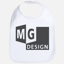 MG Design Logo in Gray Bib