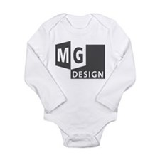 MG Design Logo in Gray Body Suit