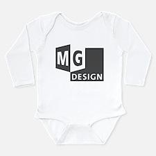 MG Design Logo in Gray Body Suit
