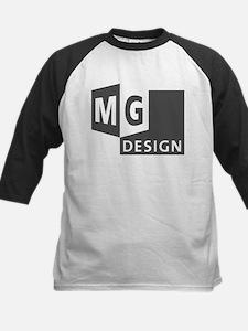 MG Design Logo in Gray Baseball Jersey