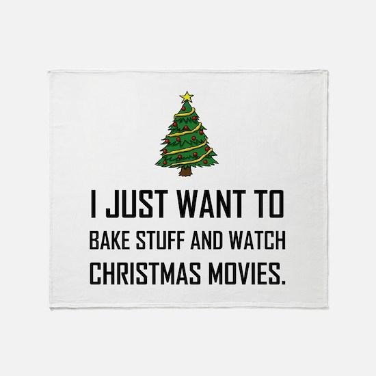 Bake Stuff Watch Christmas Movies Throw Blanket