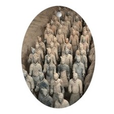 Terracotta Army, China. Ornament (Oval)