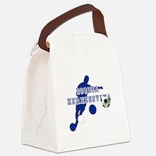 Bosnia Football Player Canvas Lunch Bag
