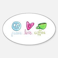PEACE LOVE COFFEE Decal