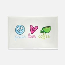 PEACE LOVE COFFEE Magnets