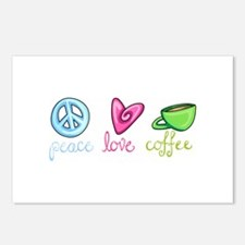 PEACE LOVE COFFEE Postcards (Package of 8)