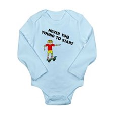 Never Too Young To Start Skateboarding Body Suit