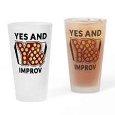 Yes And Logo Drinking Glass