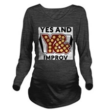 Yes And Logo Long Sleeve Maternity T-Shirt