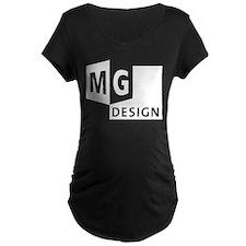 MG Design Logo in White Maternity T-Shirt