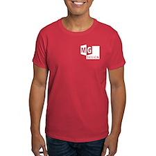 MG Design Logo in White T-Shirt