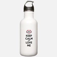 Keep calm and love me Water Bottle