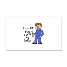 STAY OUT OF MY TOOLBOX Car Magnet 20 x 12