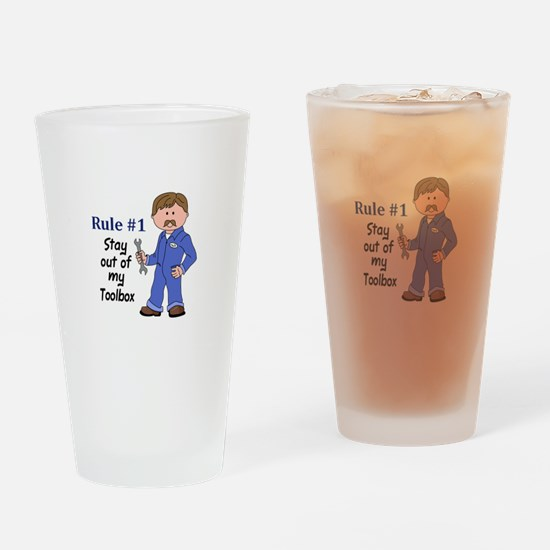 STAY OUT OF MY TOOLBOX Drinking Glass