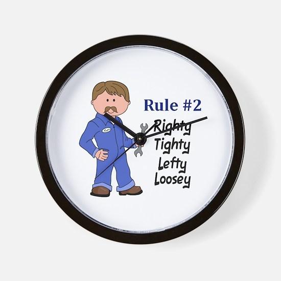 RIGHTY TIGHTY Wall Clock