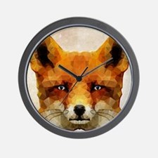 abstract fox Wall Clock