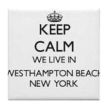 Keep calm we live in Westhampton Beac Tile Coaster