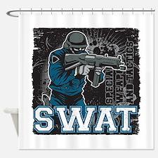 Police SWAT Team Member Shower Curtain