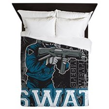Police SWAT Team Member Queen Duvet